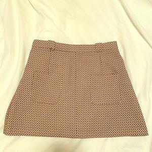 Mini skirt with geometric print